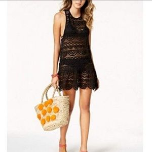 NEW! Miken Clothing Black lace Swim Cover Up Dress